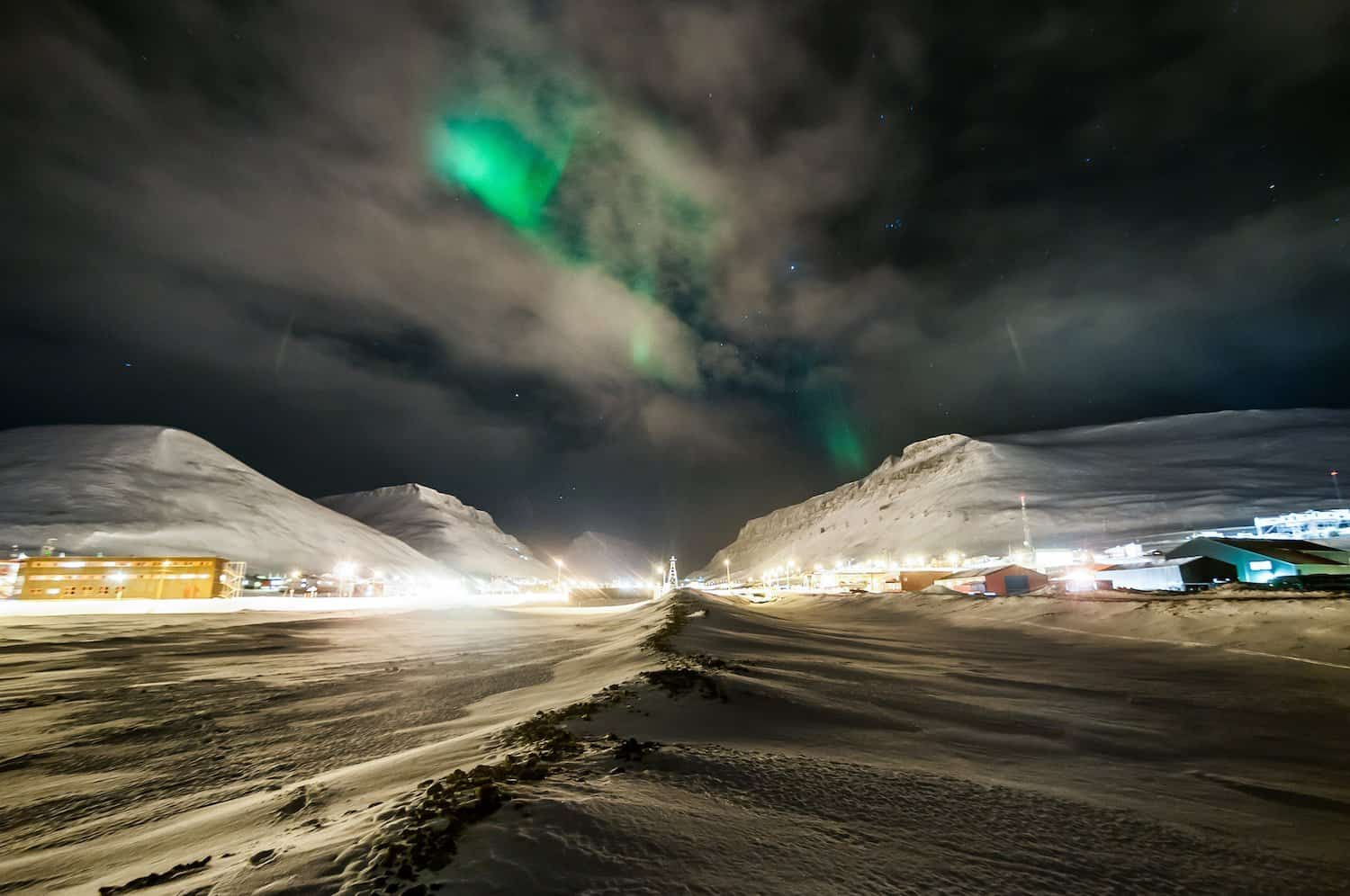 Northern Lights in Norway - Longyearbygen