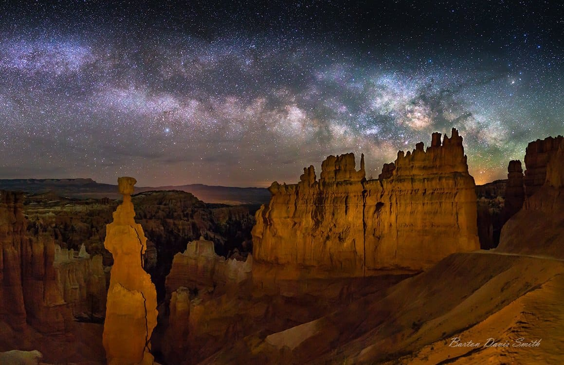 Bryce Canyon National Park Stargazing - Thor's Hammer and the Milky Way