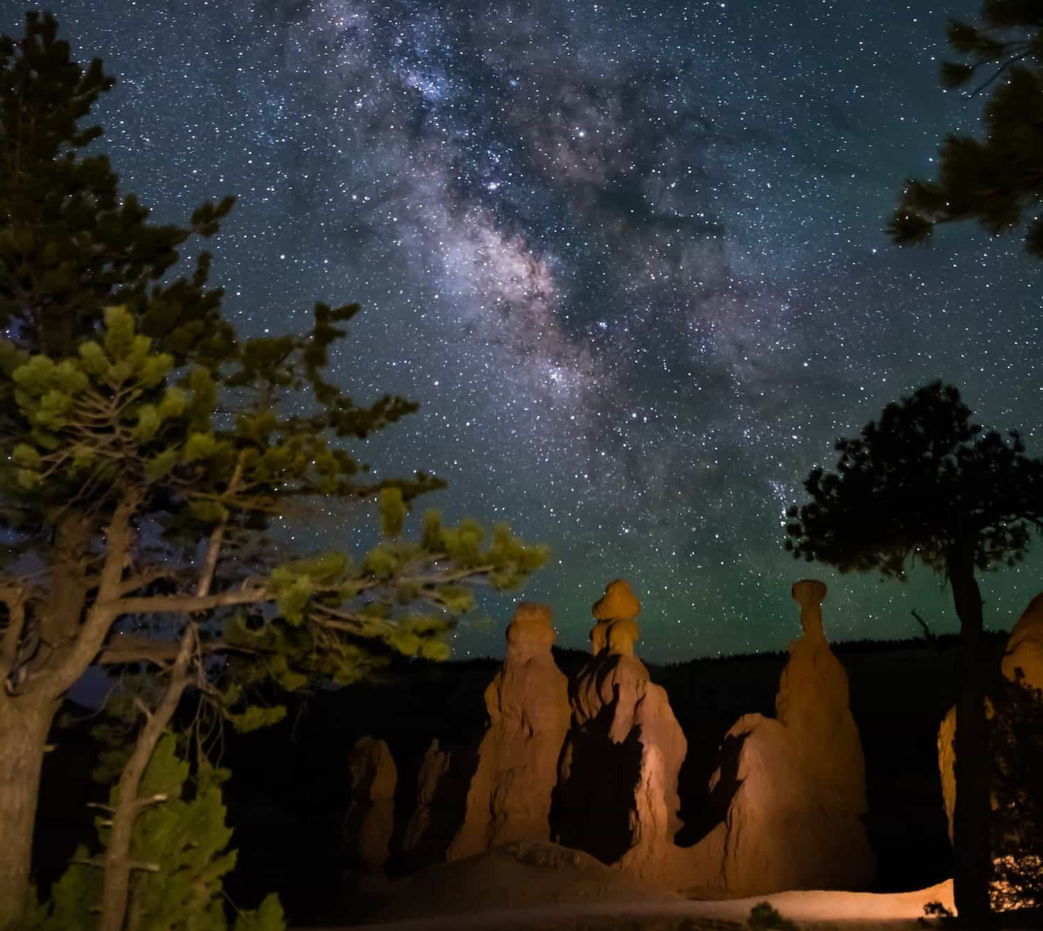 Bryce Canyon National Park Stargazing & the Milky Way - Three Wisemen formation