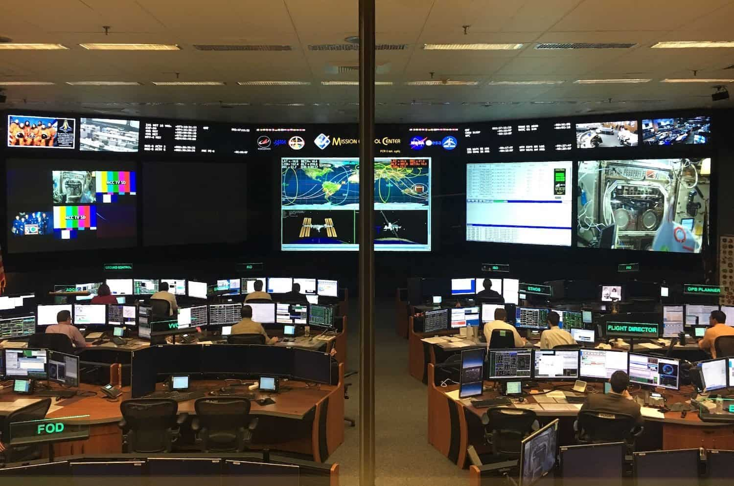 Mission Control at Johnson Space Center