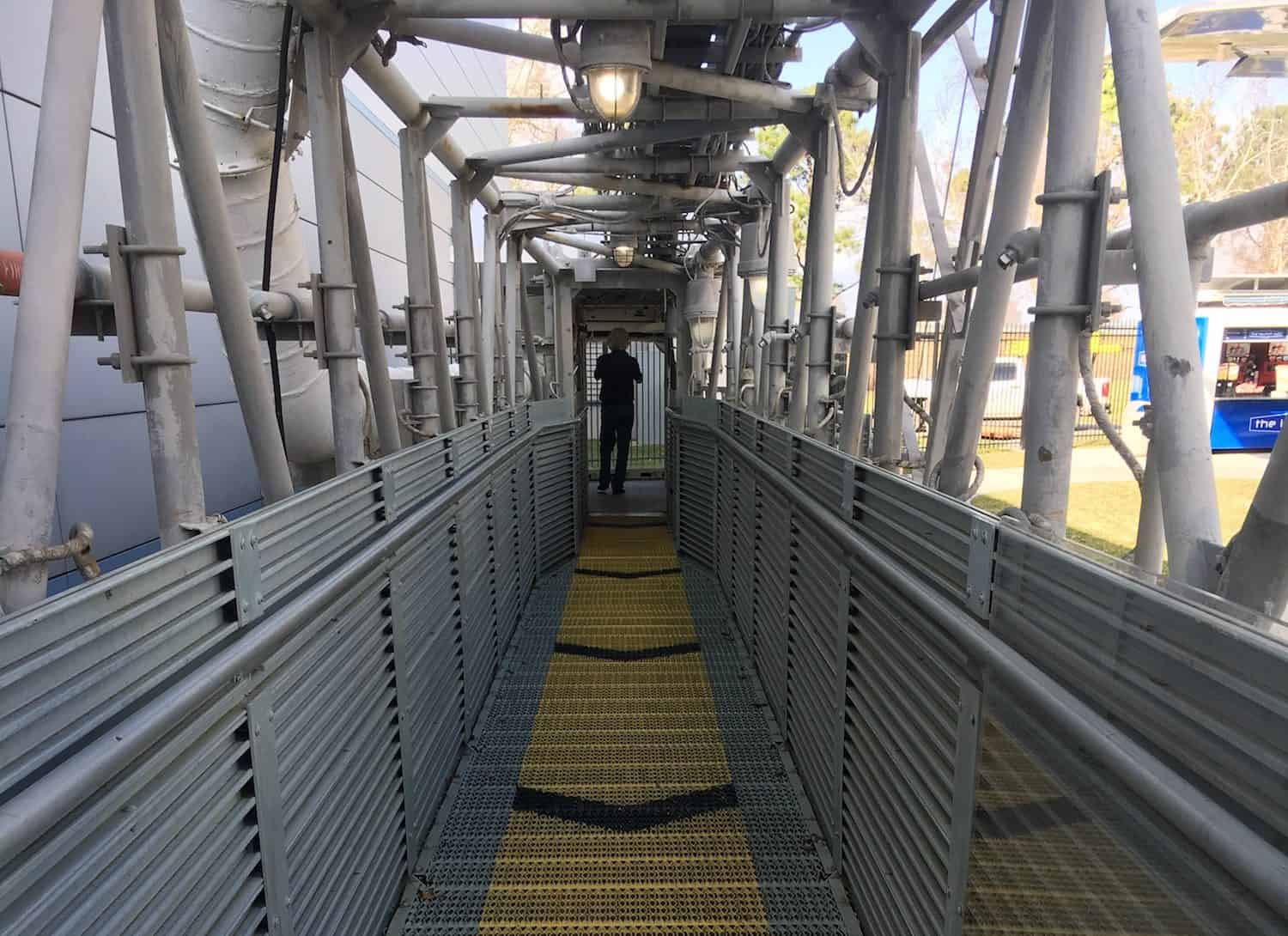 Walkway at Space Center Houston