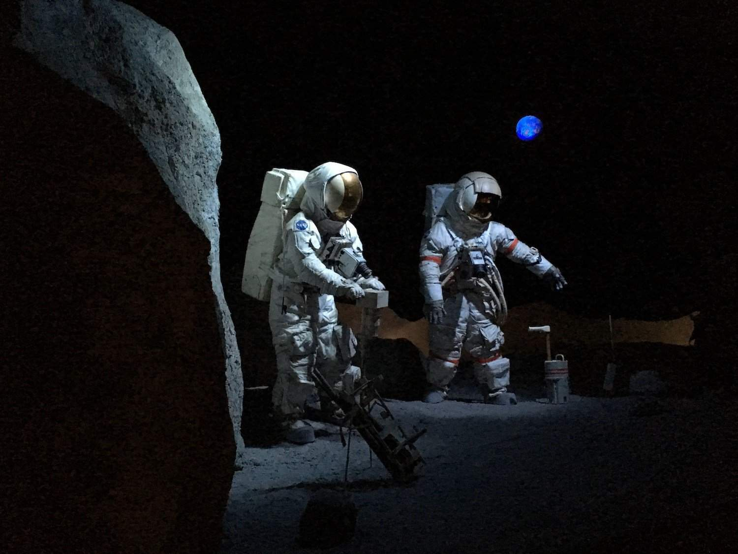 Moon Diorama at Space Center Houston