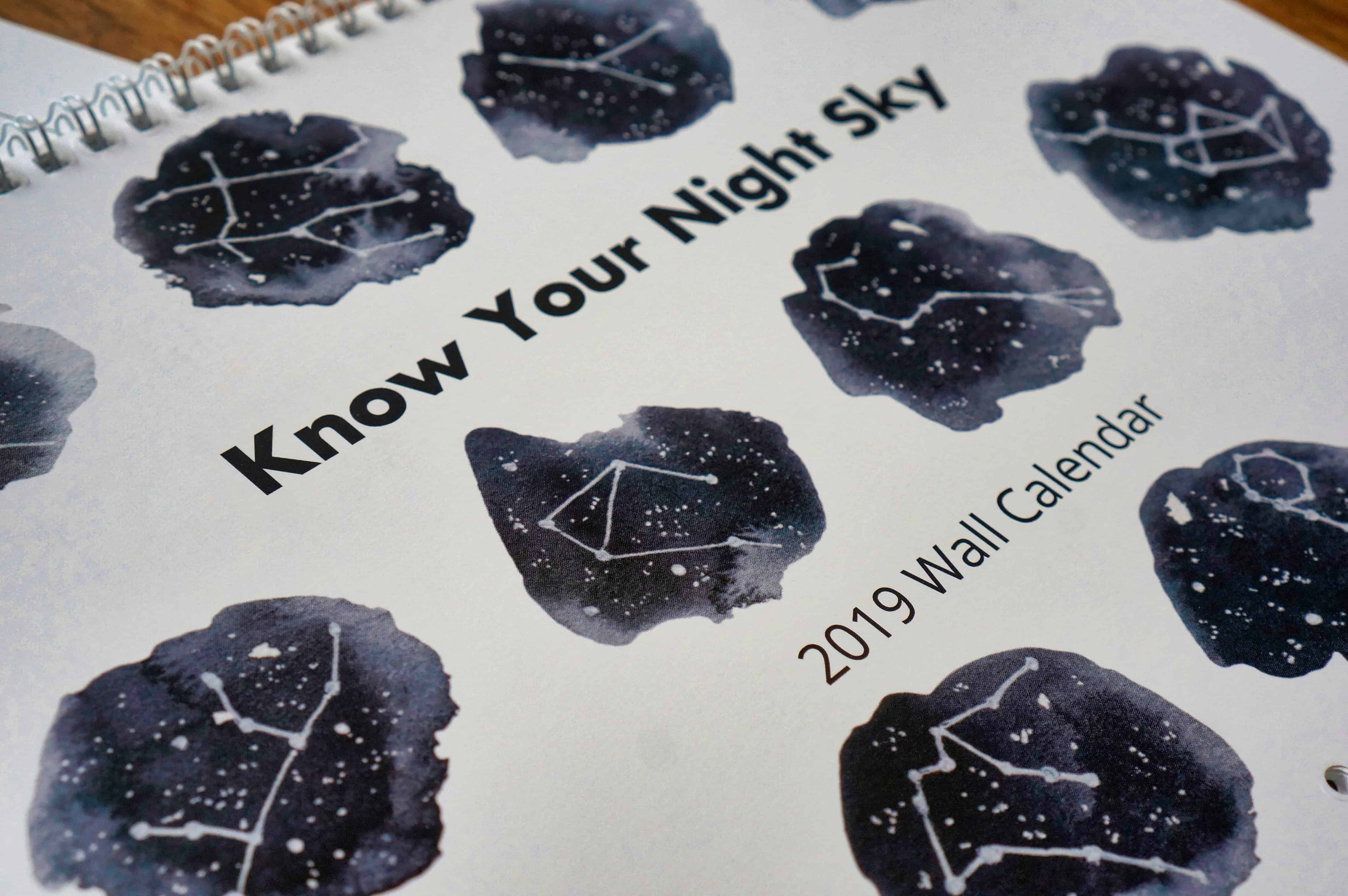 2019 Wall Calendar: Know Your Night Sky