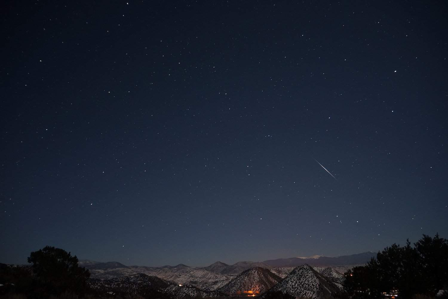 Night Sky in January - Quadrantids - Mike Lewinski via Flickr