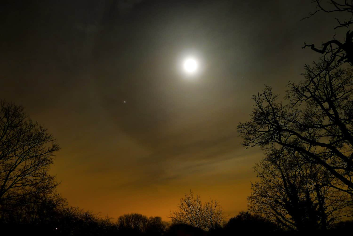Night Sky in February - Moon & Jupiter - Timo Newton-Syms via Flickr