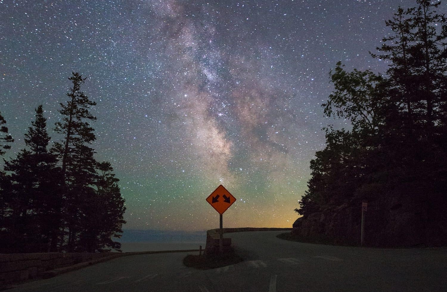 How to See the Northern Lights - Faint Aurora over Acadia National Park