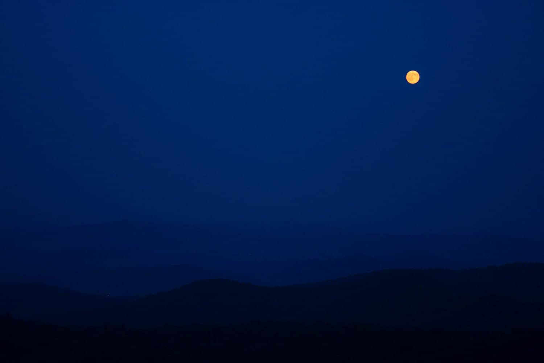 Shenandoah National Park Full Moon - bahahamelly via Flickr