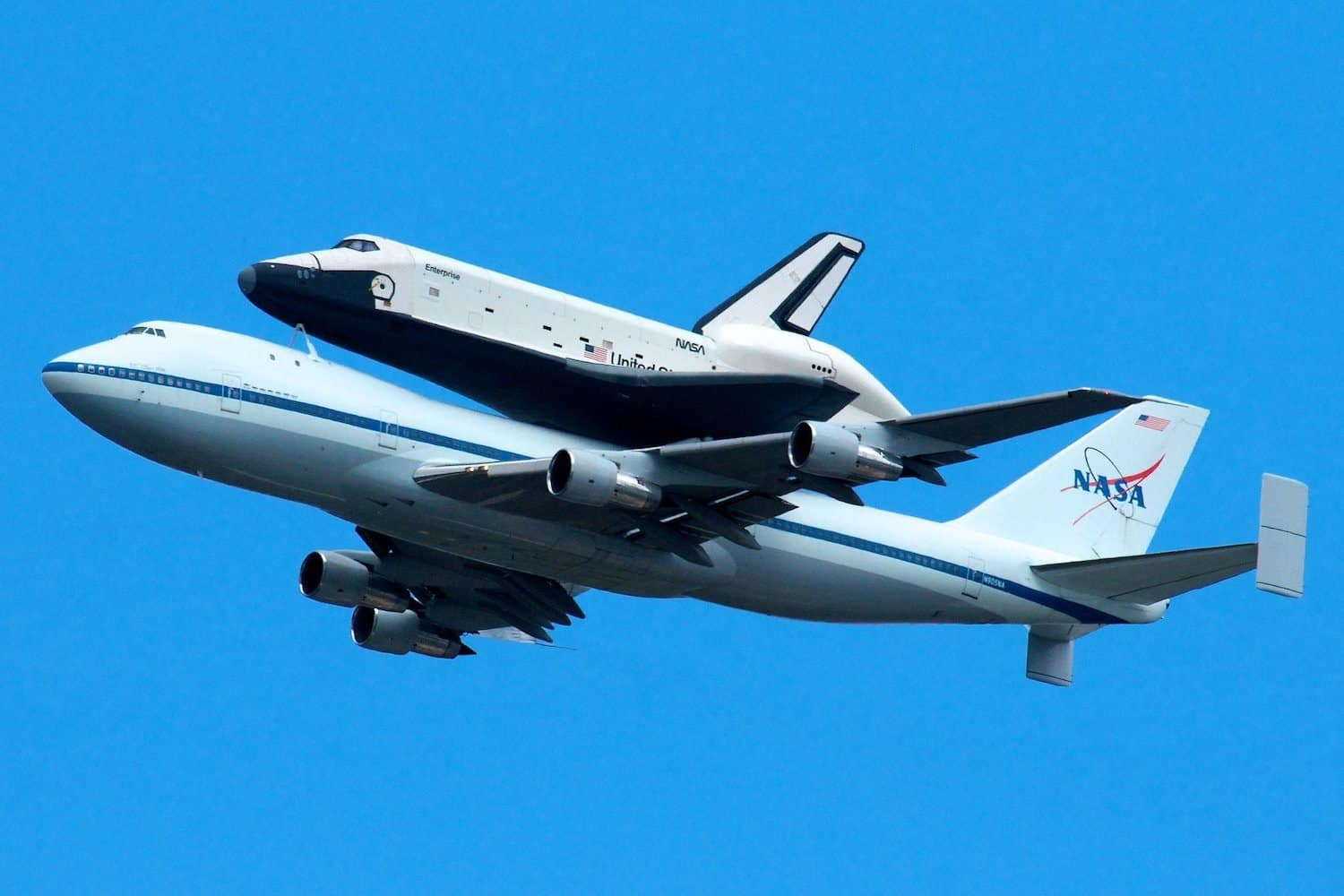 Space Shuttle Enterprise in Flight - Chris Ptacek via Flickr