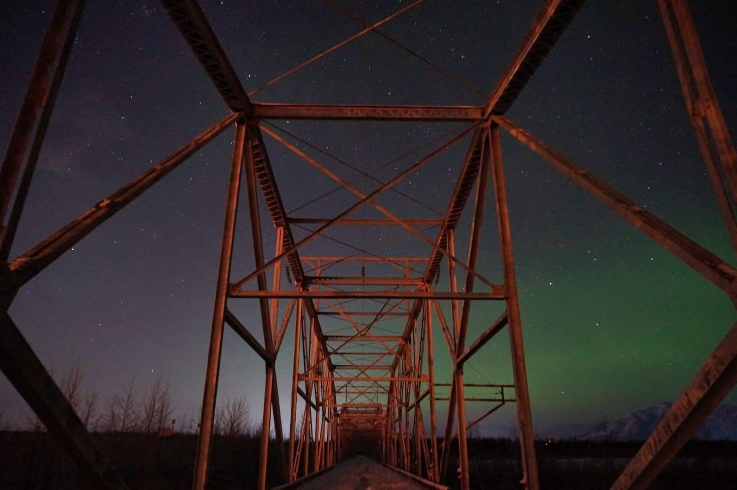 Aurora Photography - Railroad Bridge