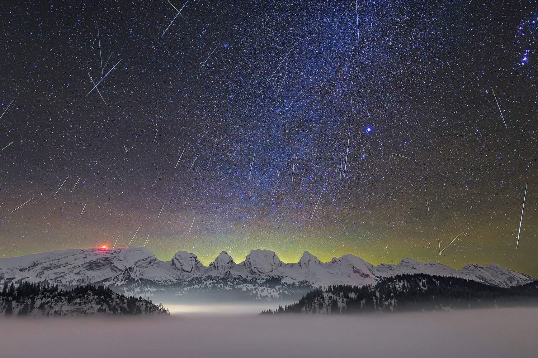 Geminids Meteor Shower - Lukas Schlagenhauf via Flickr