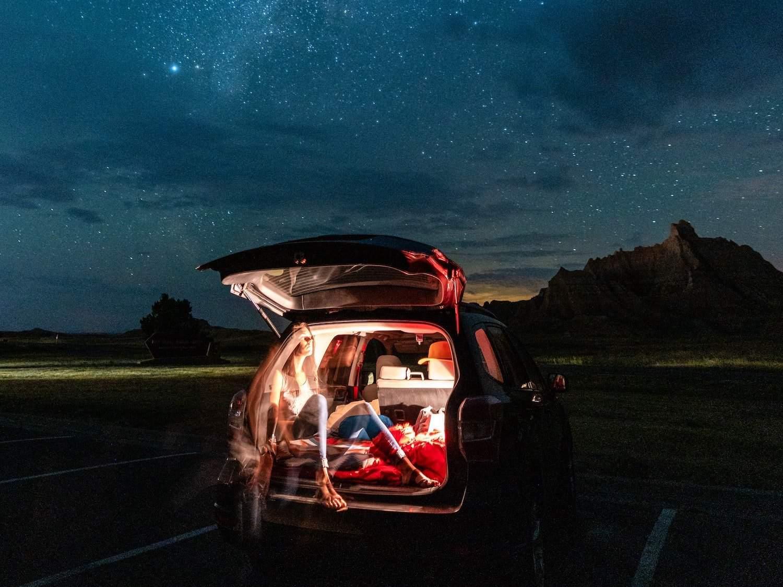 Badlands National Park Car Camping