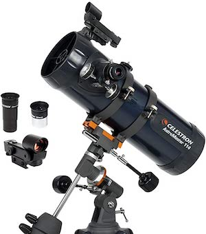 $300 Telescope Options - Celestron AstroMaster 114EQ