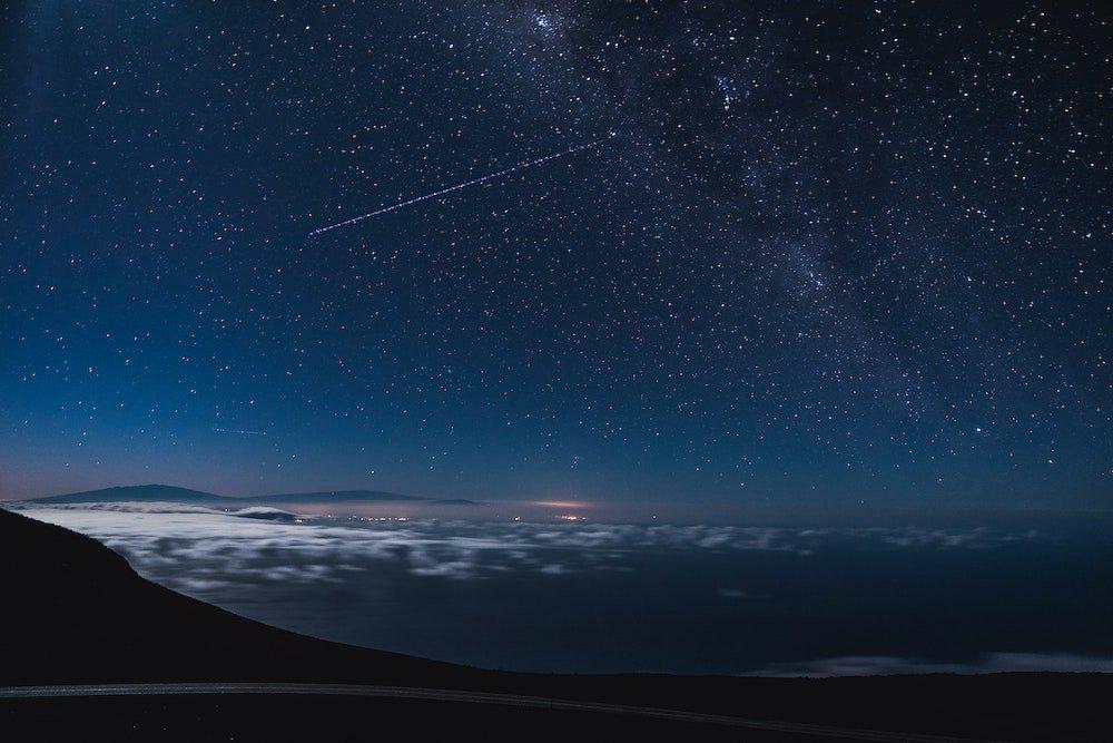 Haleakala Stargazing - Milky Way and Clouds